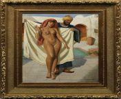 Marcel René von Herrfeldt - Arabian Nude Girl At The Bath from indian girl nude bath