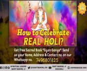 """#राम_रंगकी_होरी The process of playing Holi with spiritual colors is definitely a pleasant and supernatural experience. On this Holi let's identify that """"Supreme Almighty"""". And at the same time read the spiritual book Gyan Ganga from holi ki bhabi xxx"""